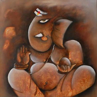Vinayaka Painting - Lord Ganesha by Sonal Agrawal