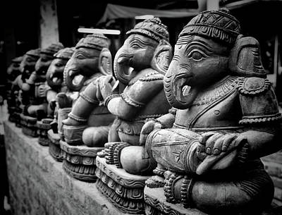 Indian Culture Photograph - Lord Ganesha by Abhishek Singh & illuminati visuals