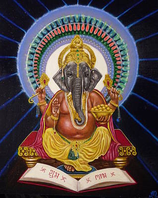 Lord Ganesha Art Print by Adrienne Martino