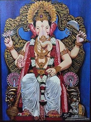Lord Ganesha. Lalbaug Raja Art Print