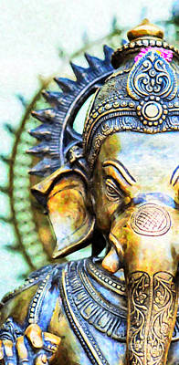 Holy Digital Art - Lord Ganesha by Tim Gainey
