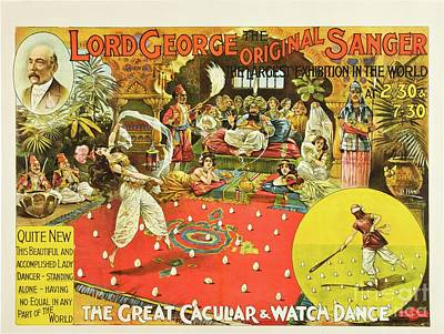 Lord George Sanger Victorian Circus Art Print