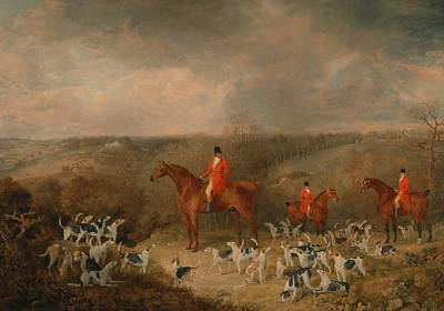 Painting - Lord Glamis And His Staghounds by Dean Wolstenholme