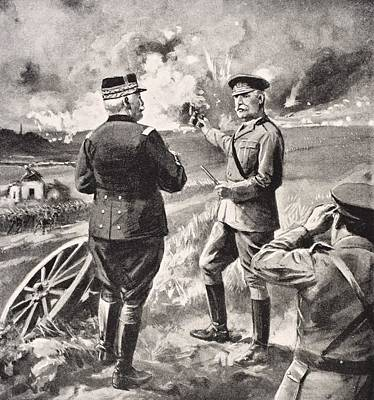 Lord Drawing - Lord Kitchener And General Joffre On by Vintage Design Pics