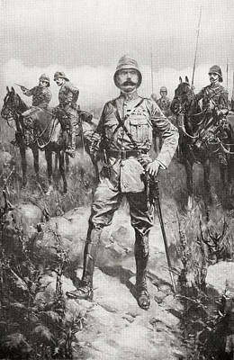 Lord Drawing - Lord Kitchener On The Veldt, South by Vintage Design Pics