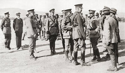 Lord Drawing - Lord Kitchener S Visit To Gallipoli by Vintage Design Pics