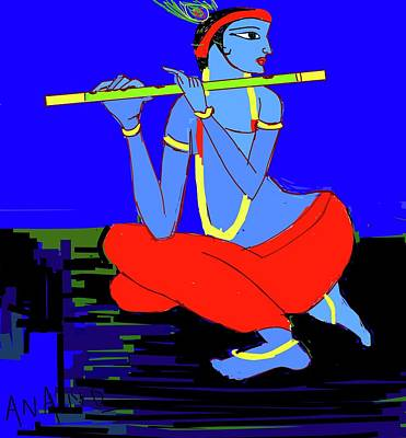 Digital Art - Lord Krishna-3 by Anand Swaroop Manchiraju