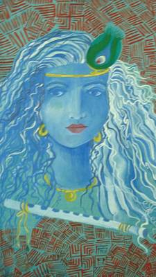 Painting - Lord Krishna by Seema Sharma
