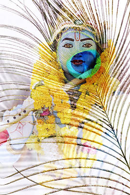 Lord Krishna Art Print by Tim Gainey
