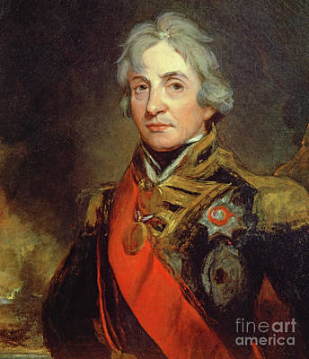 Regalia Painting - Lord Nelson by John Hoppner