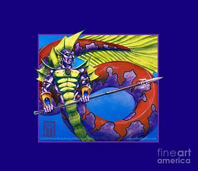 Magic The Gathering Mixed Media - Lord Of Atlantis by Melissa A Benson