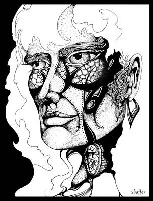 Art Print featuring the drawing Lord Of The Flies Study by Curtiss Shaffer