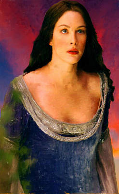 Lord Of The Rings Painting - Lord Of The Rings Arwen by Frank Paul