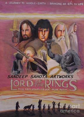 Intezaar Painting - Lord Of The Rings by Sandeep Kumar Sahota