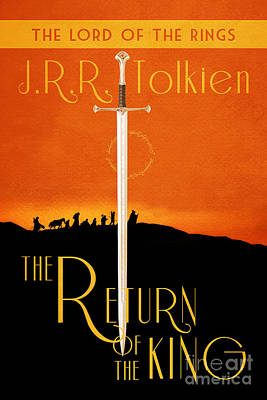 Book Covers Drawing - Lord Of The Rings The Return Of The King Book Cover Movie Poster by Nishanth Gopinathan