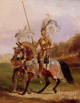 Lord Of The Tournament Art Print by Edward Henry Corbould