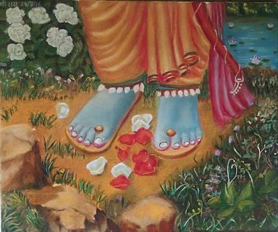 Shri Krishna Painting - Lord Rama Feet's  by Ashutosh Mishra