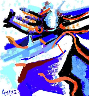 Digital Art - Lord Shiva Dance-2 by Anand Swaroop Manchiraju