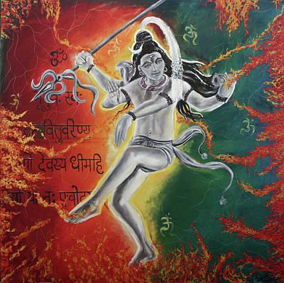 Lord Shiva-the Cosmic Dance Print by Tamanna  Sagar