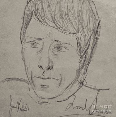 Drawing - Lord Snowdon by Joan-Violet Stretch
