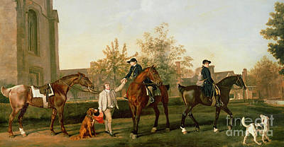 Horse Art Photograph - Lord Torrington's Hunt Servants Setting Out From Southill by George Stubbs