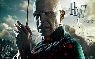 Deathly Hallows Digital Art - Lord Voldemort In Deathly Hallows Part 2 by Emma Brown