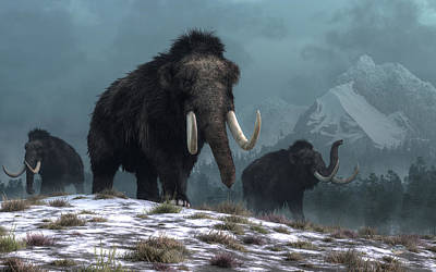 Digital Art - Lords Of The Ice Age by Daniel Eskridge