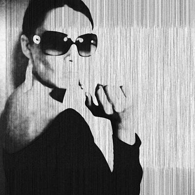 Sunglasses Photograph - Loren Black by Naxart Studio