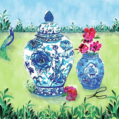 Painting - Lorenzo's Garden by Kimberly Potts