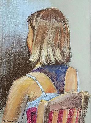 Drawing - Loretta, Back. by Barbara Oertli