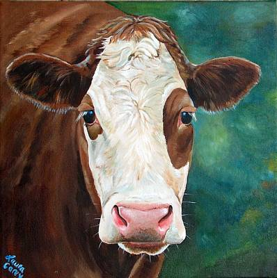Hereford Painting - Loretta by Laura Carey