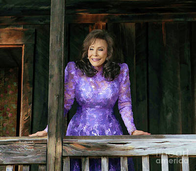 Loretta Lynn Mixed Media - Loretta Lynn by Garland Johnson