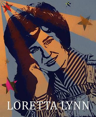 First Lady Painting - Loretta Lynn Poster by Dan Sproul