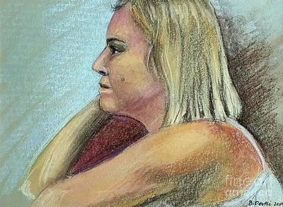 Drawing - Loretta, Side by Barbara Oertli