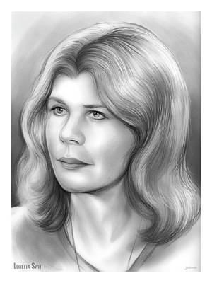 Drawing - Loretta Swit by Greg Joens