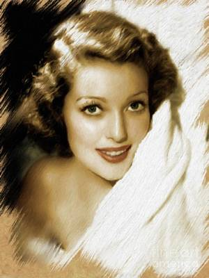 Painting - Loretta Young by Mary Bassett