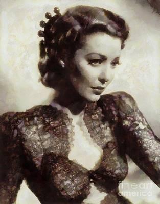 Loretta Young, Vintage Hollywood Actress Art Print