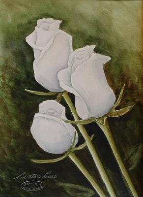Lorettas Roses Art Print by Sharon Steinhaus