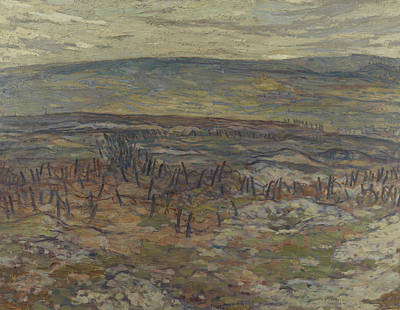Painting - Lorette Ridge, 1918 by Alexander Young Jackson