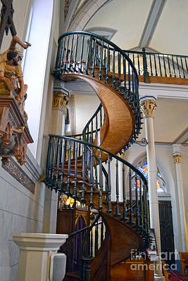 Photograph - Loretto Chapel Miraculous Stairway by Catherine Sherman