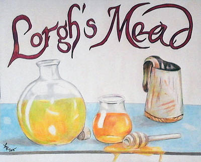 Beer Drawings Royalty Free Images - Lorghs Mead Royalty-Free Image by Loretta Nash