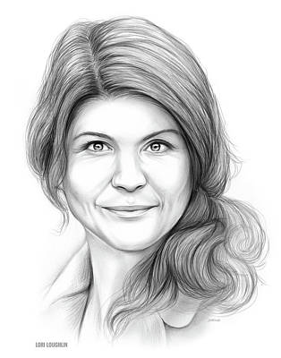 Drawing - Lori Loughlin by Greg Joens
