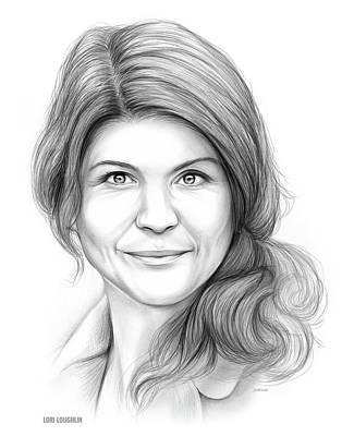 Celebrity Drawing - Lori Loughlin by Greg Joens