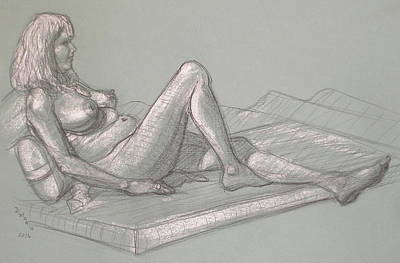 Drawing - Lori Reclining 2016 by Donelli  DiMaria