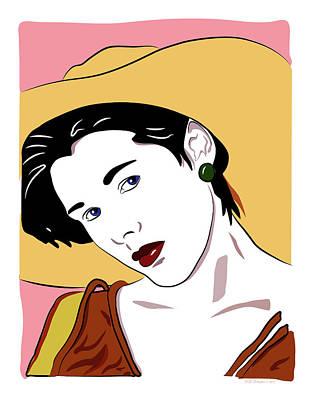 Digital Art - Lori Warm by WB Johnston