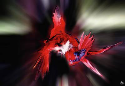 Photograph - Lories Dance by Wayne King