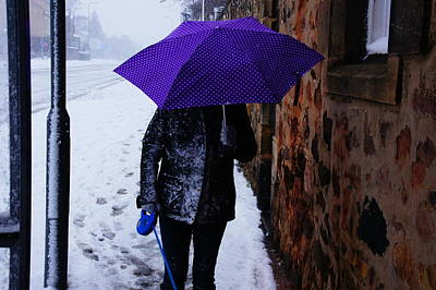 Photograph - Lorna On A Brollie Day by Nik Watt
