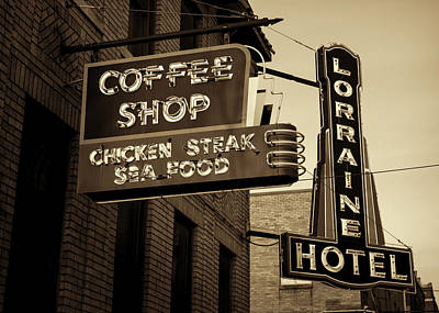 I Have A Dream Wall Art - Photograph - Lorraine Hotel Coffee Shop #2 by Stephen Stookey