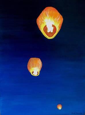 Painting - Lorraine's Lanterns by Jack Skinner
