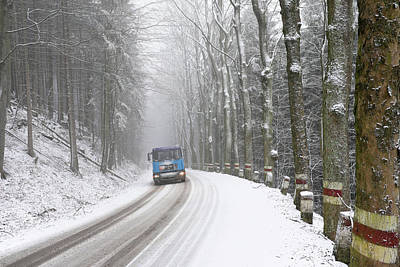 Photograph - Lorry In A Frozen Woods by Dubi Roman